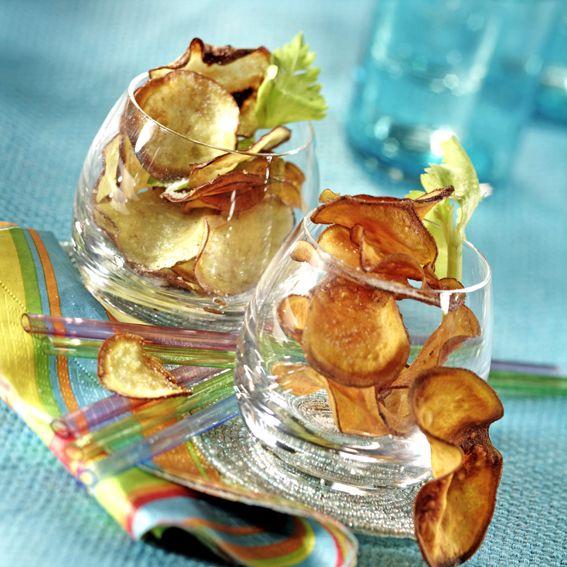 Chips de patate douce (feuilles d'automne)
