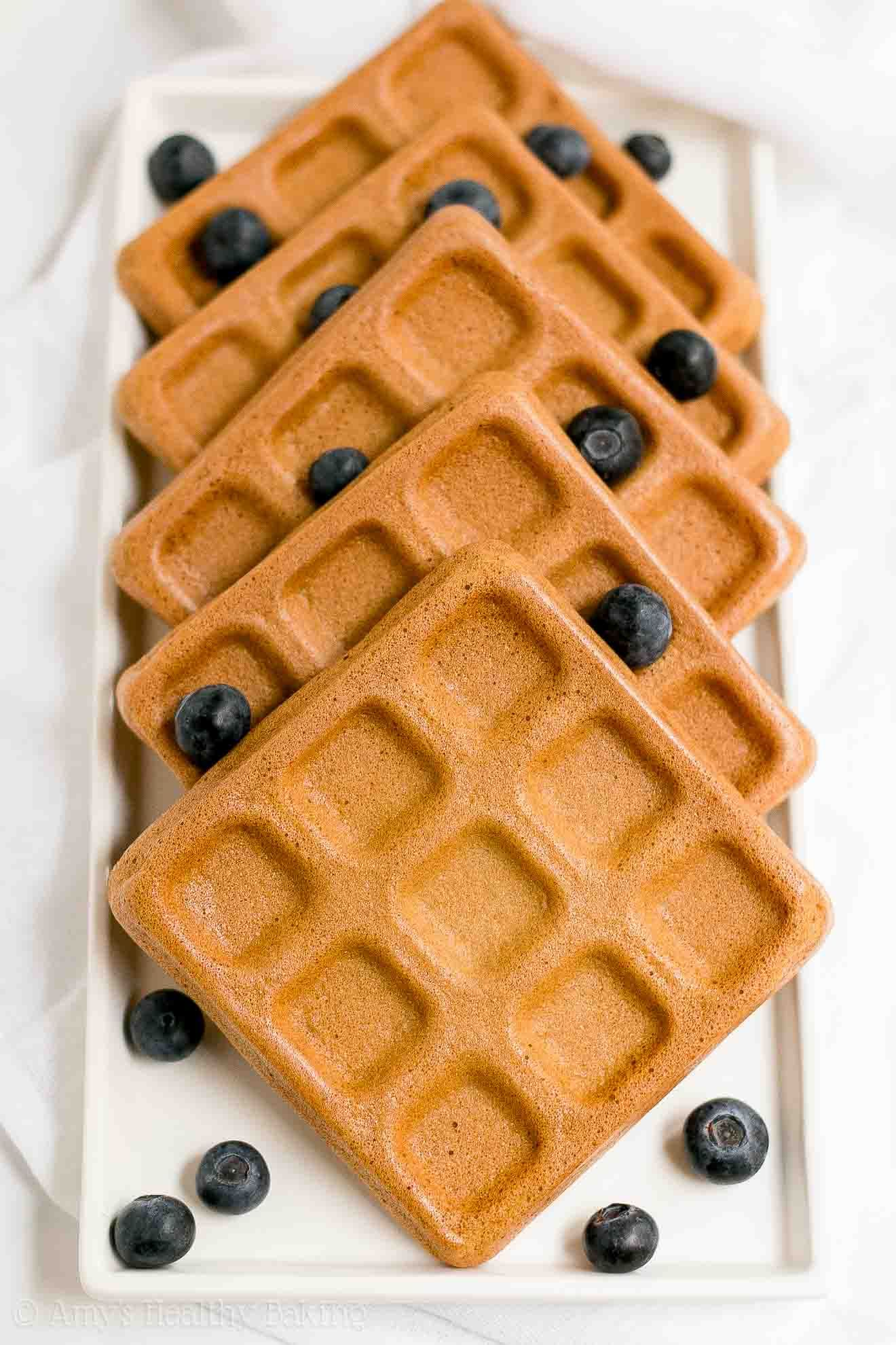 The Best Healthy Buttermilk Waffles Only 102 Calories They Re Truly Perfect Light Fluffy Crispy On The Waffle Recipes Buttermilk Waffles Healthy Waffles