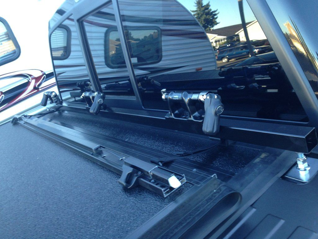 Home Made Bike Rack Compatible With Undercover Tonneau Cover Bikerack2 Jpg Truck Bike Rack Truck Bed Tonneau Cover