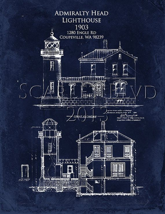 Architectural blueprint art print admiralty head by scarletblvd architectural blueprint art print admiralty head by scarletblvd 2500 malvernweather Image collections
