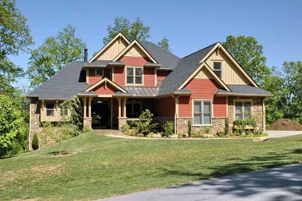 French Country Style House Plans - 2476 Square Foot Home , 2 Story