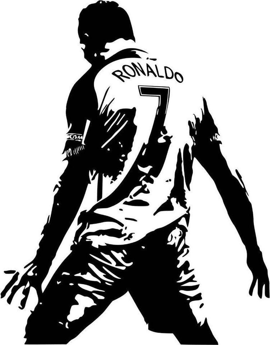 Muursticker Topcadeaus Cadeau Poster Cristiano Ronaldo Zwart Wit Cristiano Ronaldo Ronaldo Ronaldo Cristiano