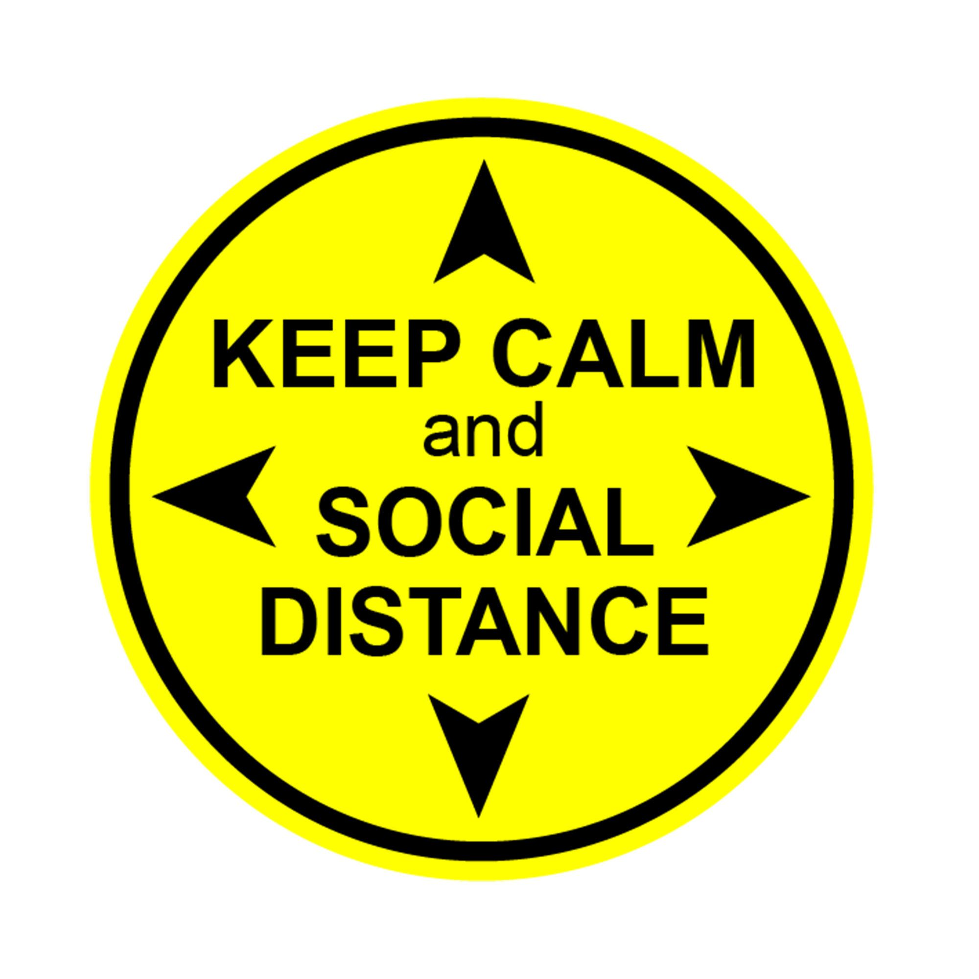 Social distance stickers, Social distance floor decals