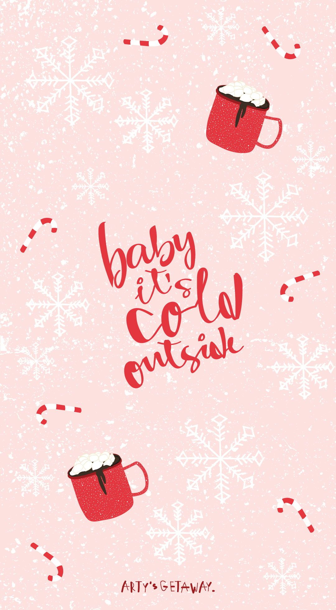 Free Phone Wallpaper Freebie Baby It S Cold Outside Freebie Phonewallpaper Christmas Phone Wallpaper Cute Christmas Wallpaper Wallpaper Iphone Christmas