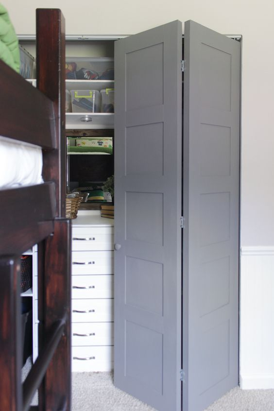 Diy Craftsman Style Closet Doors Cheap Doors Bi Fold Doors And