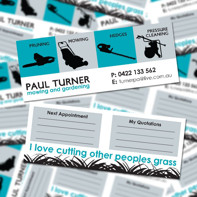 Paul Turner Mowing Skinny Business Card (September 2011) by ...
