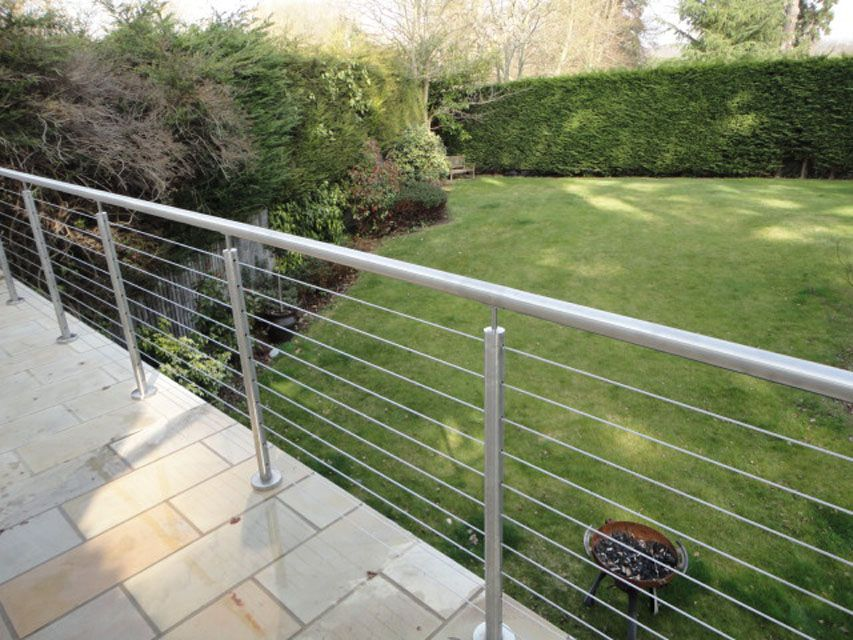 Domestic Balustrades Outdoor Handrail Stainless Steel Handrail | Exterior Stainless Steel Handrail | Adjustable Exterior Metal | Modular Steel | Porch | Steel Usa | Wall Mounted