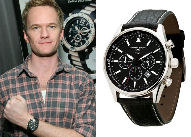 Neil patrick harris wearing the best selling jg6500 watch celebrity jorg gray wearers for Top celebrity watches