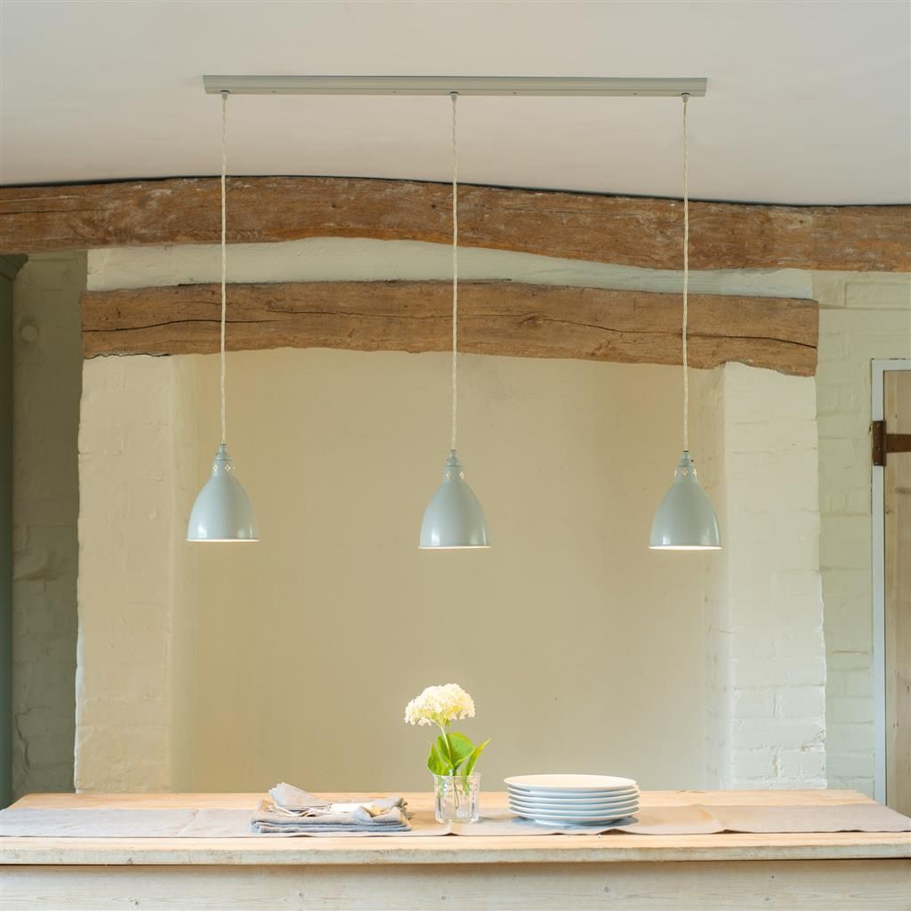 Barbican triple pendant track in clay country kitchens pinterest