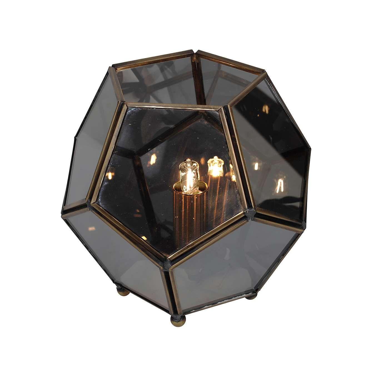 Terrarium smoked glass table lamp l i g h t i n g tablefloor