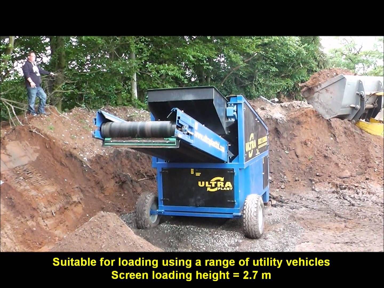 Ultra deck screen mobile soil screener gravel screener for Topsoil screener