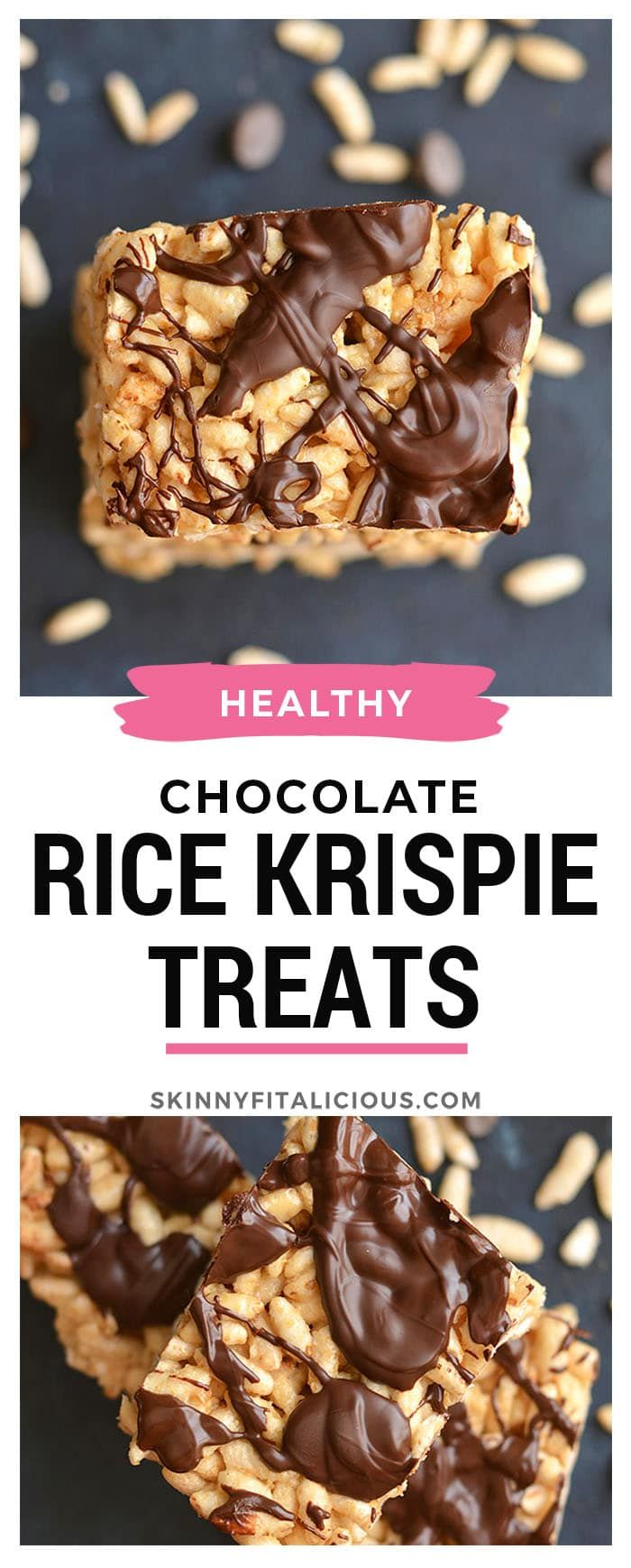 Healthy Rice Krispie Treats made better for you! #dairyfree #glutenfree #rice #krispie #treats #healthy #lowcalorie #skinnyfitalicious #ricekrispiestreats