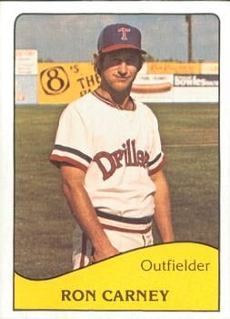 1979 Tcma Tulsa Drillers 18 Ron Carney Front 1979