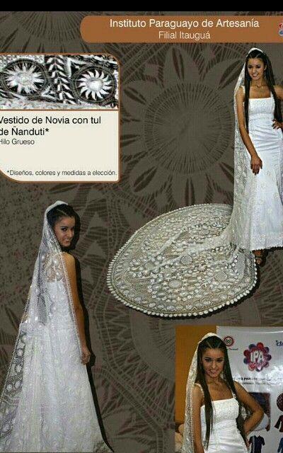 vestido de novia en ñandutí | encajes | pinterest | wedding dresses