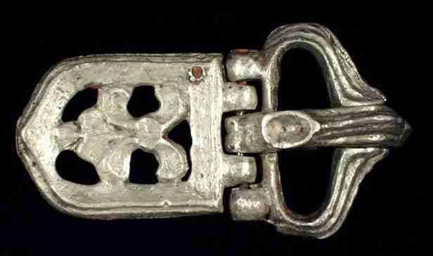 Byzantine silver buckle, 8th century AD, cast, openwork,