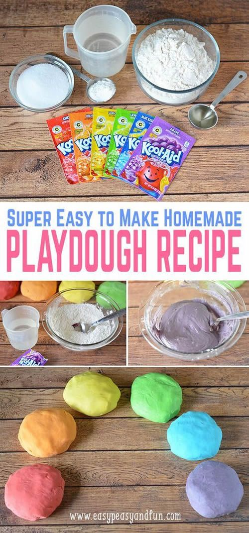 The BEST DIY Edible Playdough Recipes - Learn How To Make Play Doh At Home For Kids & Toddlers! Fun DIY Craft Projects For Children