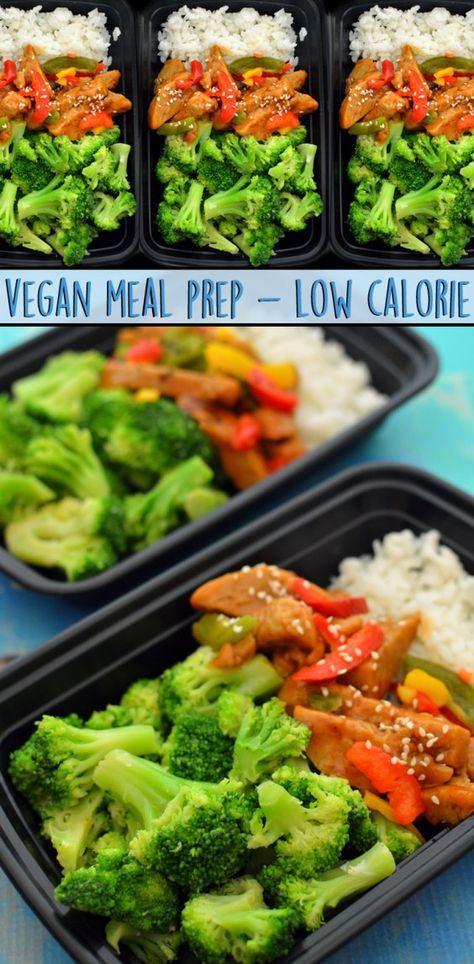 Vegan Meal Prep Low Calorie Healthy Weight Loss Seitan