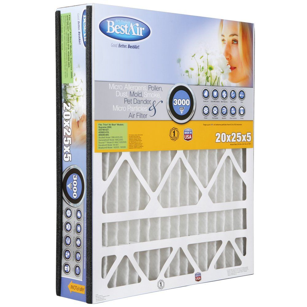 Bestair Ab202513r Furnace Filter 20 X 25 X 5 Trion Air Bear Replacement Merv 13 3 Pack Be Sure To Check Home Air Purifier Furnace Filters Furnace