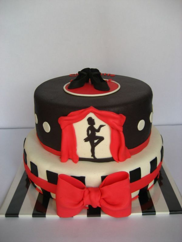 Awe Inspiring Red White And Black Dance Cake With Images Dance Cakes Funny Birthday Cards Online Hetedamsfinfo