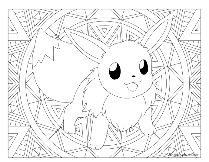 Coloring Eevee Evolutions Coloring Pages Printable Eevee Coloring