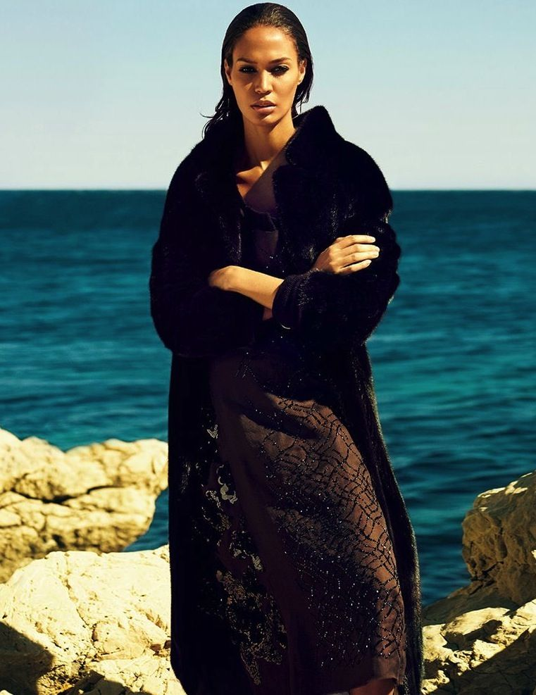 """""""A Wave of Reflections"""" – Joan Smalls in Vogue Japan October 2013"""