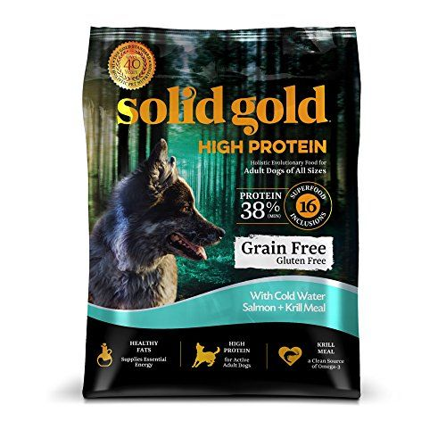 Solid Gold High Protein Grain And Gluten Free Dry Dog Food Cold Water Salmon And Krill Meal Recipe Active A In 2020 Dry Dog Food High Protein Dog Food Dog Food Recipes