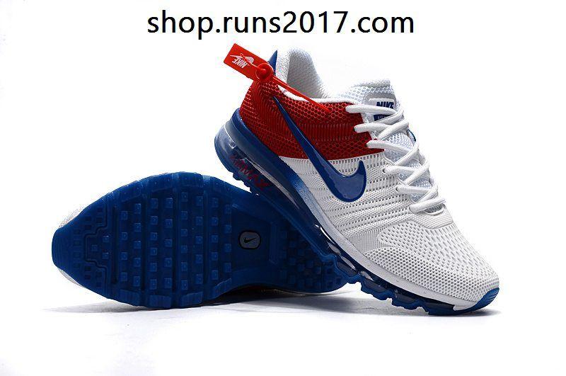 8443e16cfa12 Nike Air Max 2017 KPU Blue White Red Tick Men Shoes