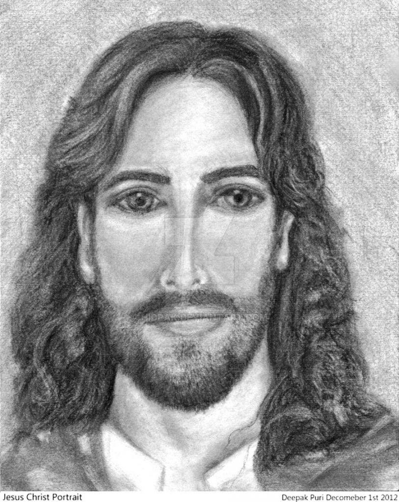 Pencil sketches of jesus jesus christ portrait pencil sketch hidpak on deviantart