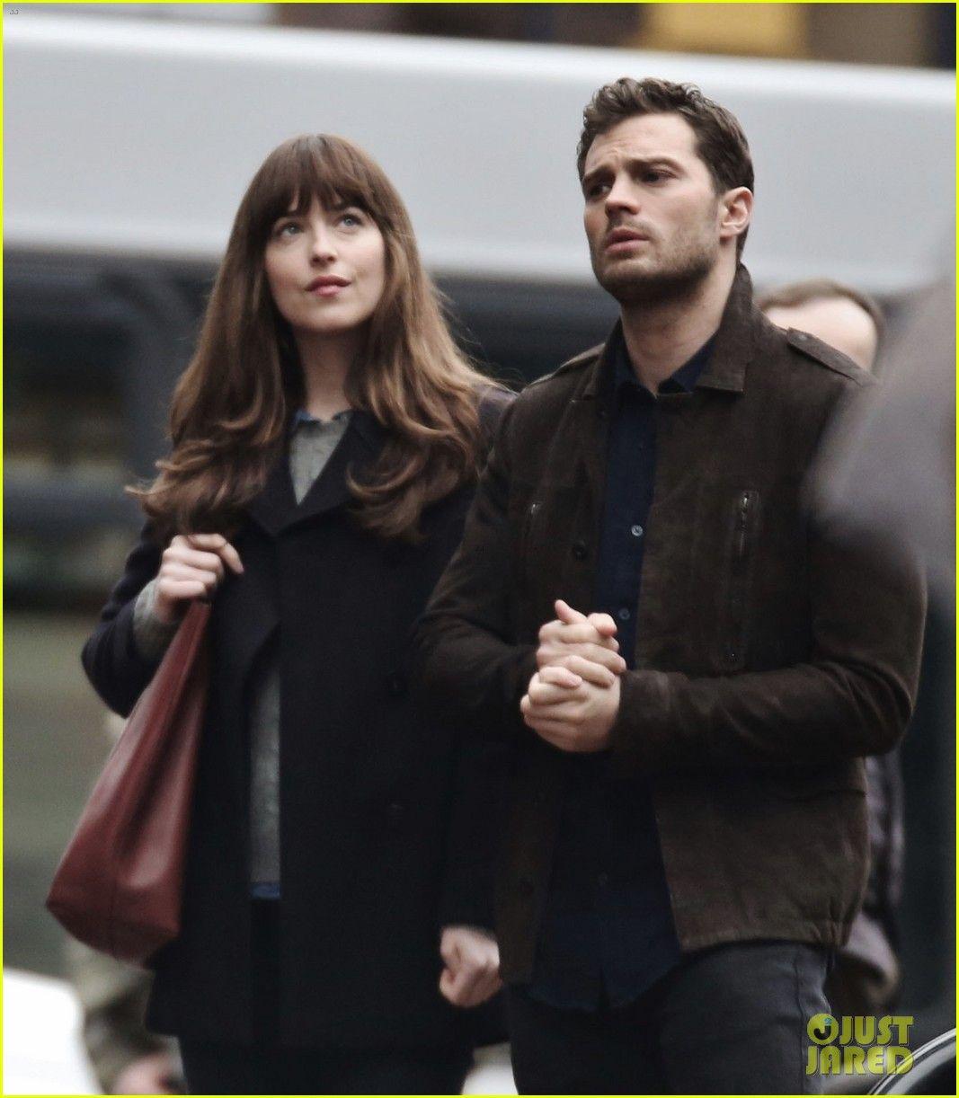 Dakota Johnson & Jamie Dornan Hold Hands on 'Fifty Shades Darker' Set!