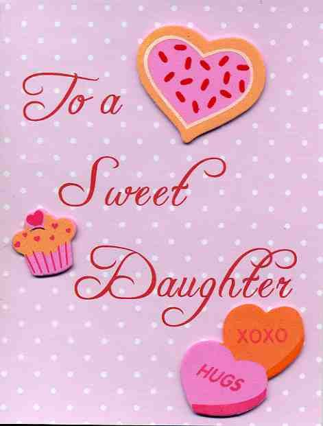 Valentine Card For Sweet Daughter Etsy Valentines Day Messages Happy Valentine S Day Daughter Valentines Cards