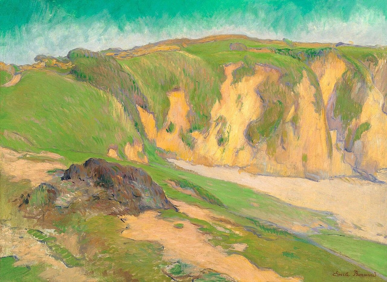 The Cliffs at Le Pouldu  - Emile Bernard