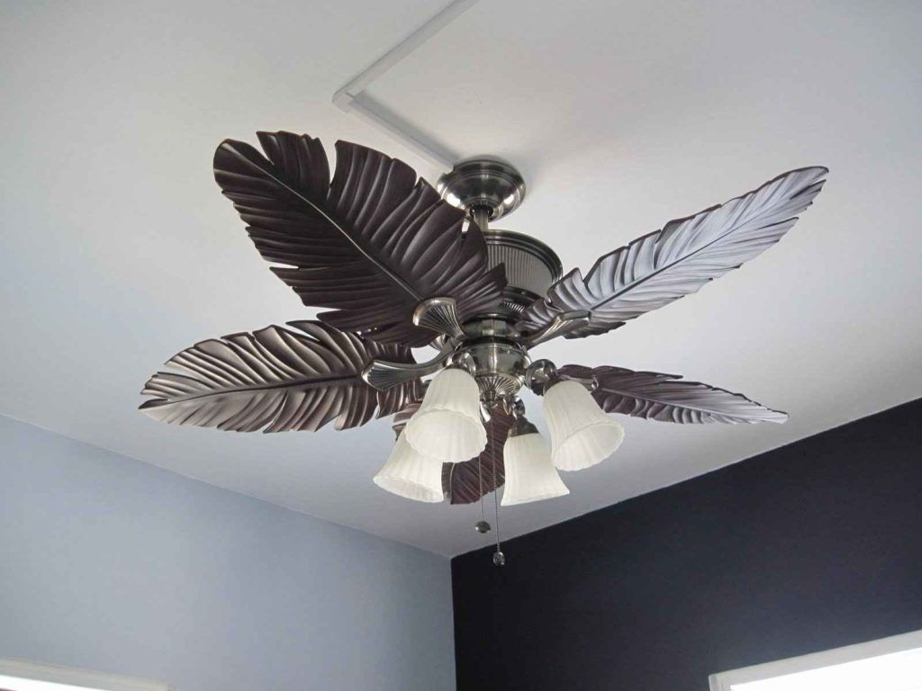 Best Palm Leaf Ceiling Fans | Beach Decor | Ceiling fan ...