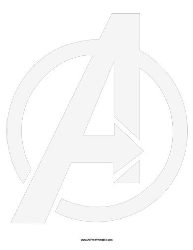 The Avengers Symbol Stencil All Free Printable