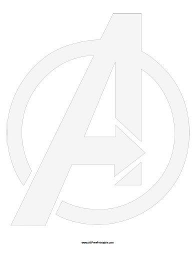 Avengers Symbol Stencil Free Printable Avengers Symbols Avengers Birthday Party Decorations Free Stencils
