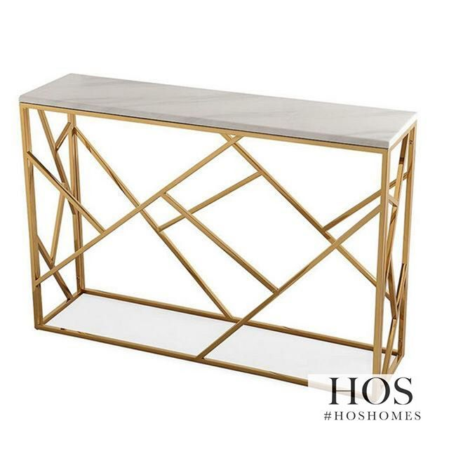 MARBLE AND GOLD This Soho Console Is Only 379.99
