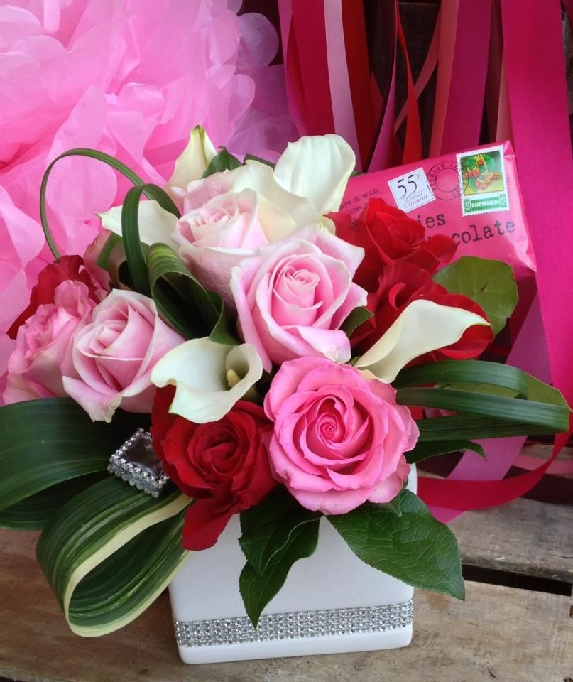 What girl doesn't love receiving flowers on Valentines Day!