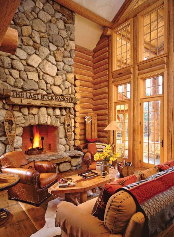 Pioneer Log Homes   Jill Rappaport Log Home   Log, Timber, Stone ...