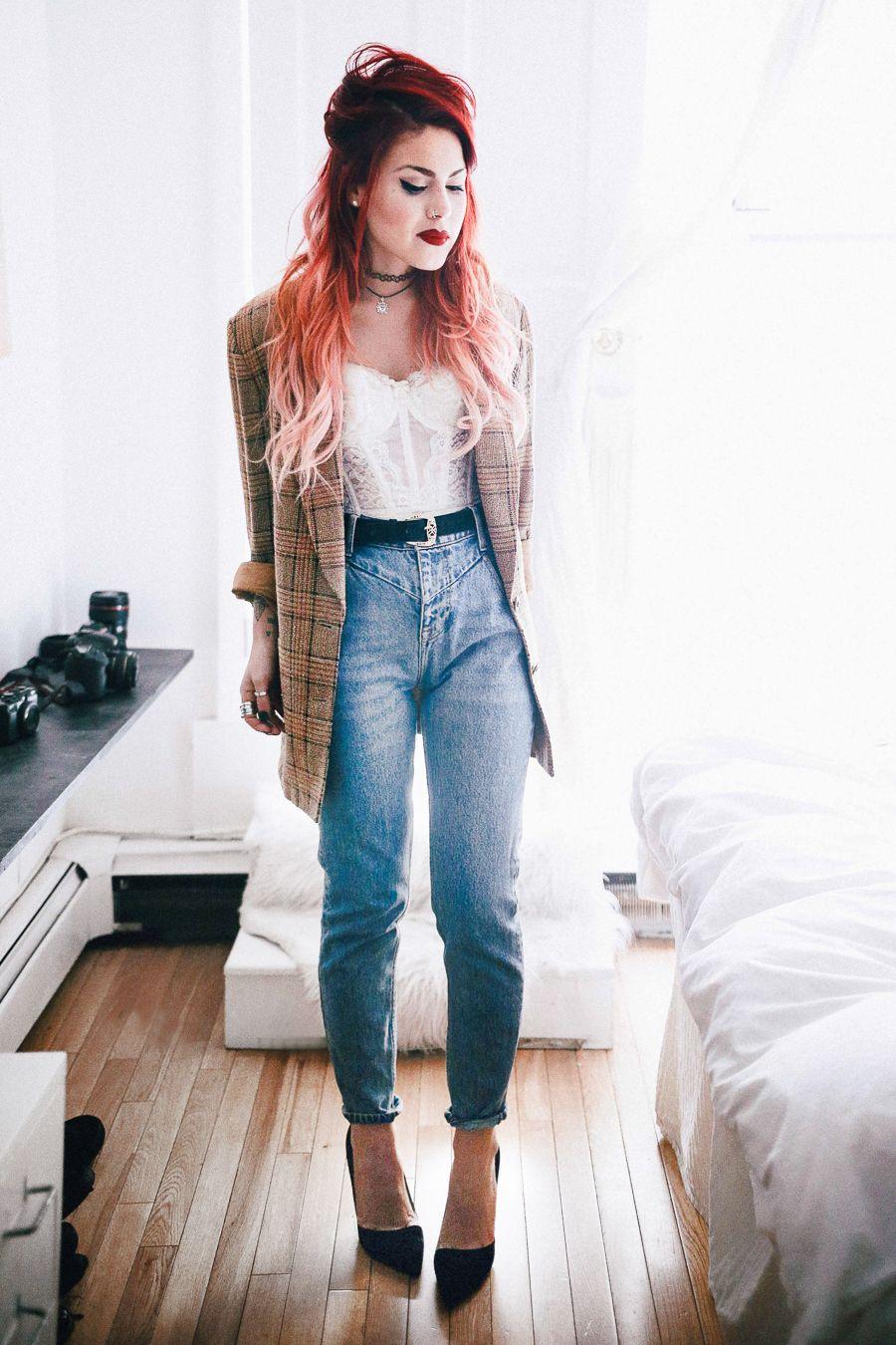 a0a0c5a233f With dark high waisted jeans