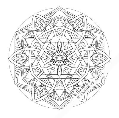 Six Sided Mandalas Coloring Pages Mandala Coloring Pages