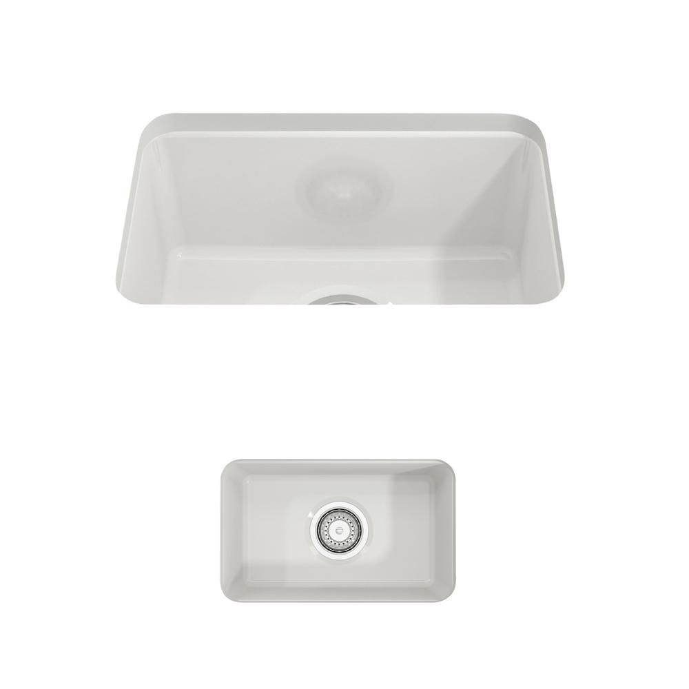 Bocchi Sotto Undermount Fireclay 12 In Single Bowl Kitchen Sink With Strainer In Black Single Bowl Kitchen Sink Sink Apron Sink Kitchen