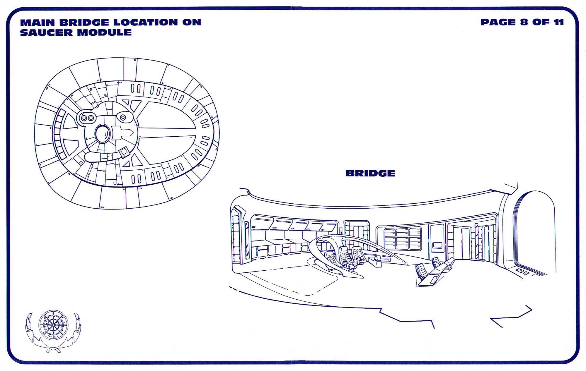 Uss enterprise ncc 1701 d galaxy class saucer separation r flickr - Schematic Of Bridge On U S S Enterprise Ncc 1701 D