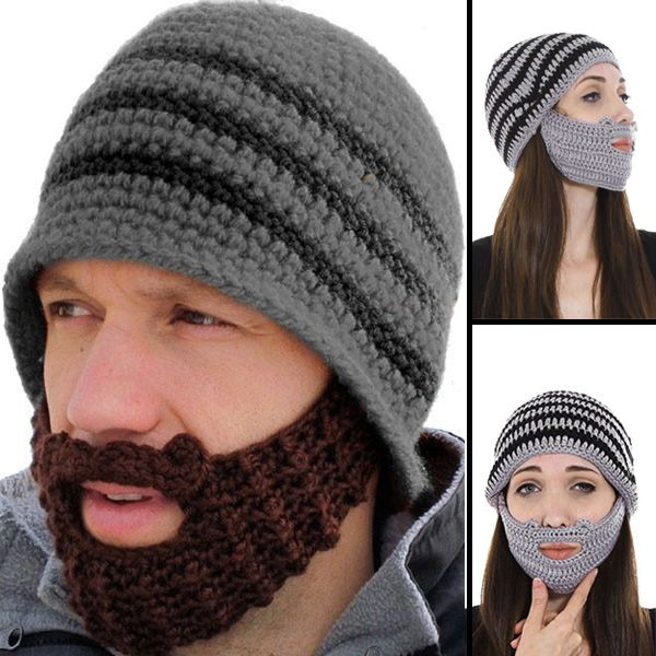 668f639837c70 Sport a beard this winter and keep your face warm with Beard Beanie! ❄️