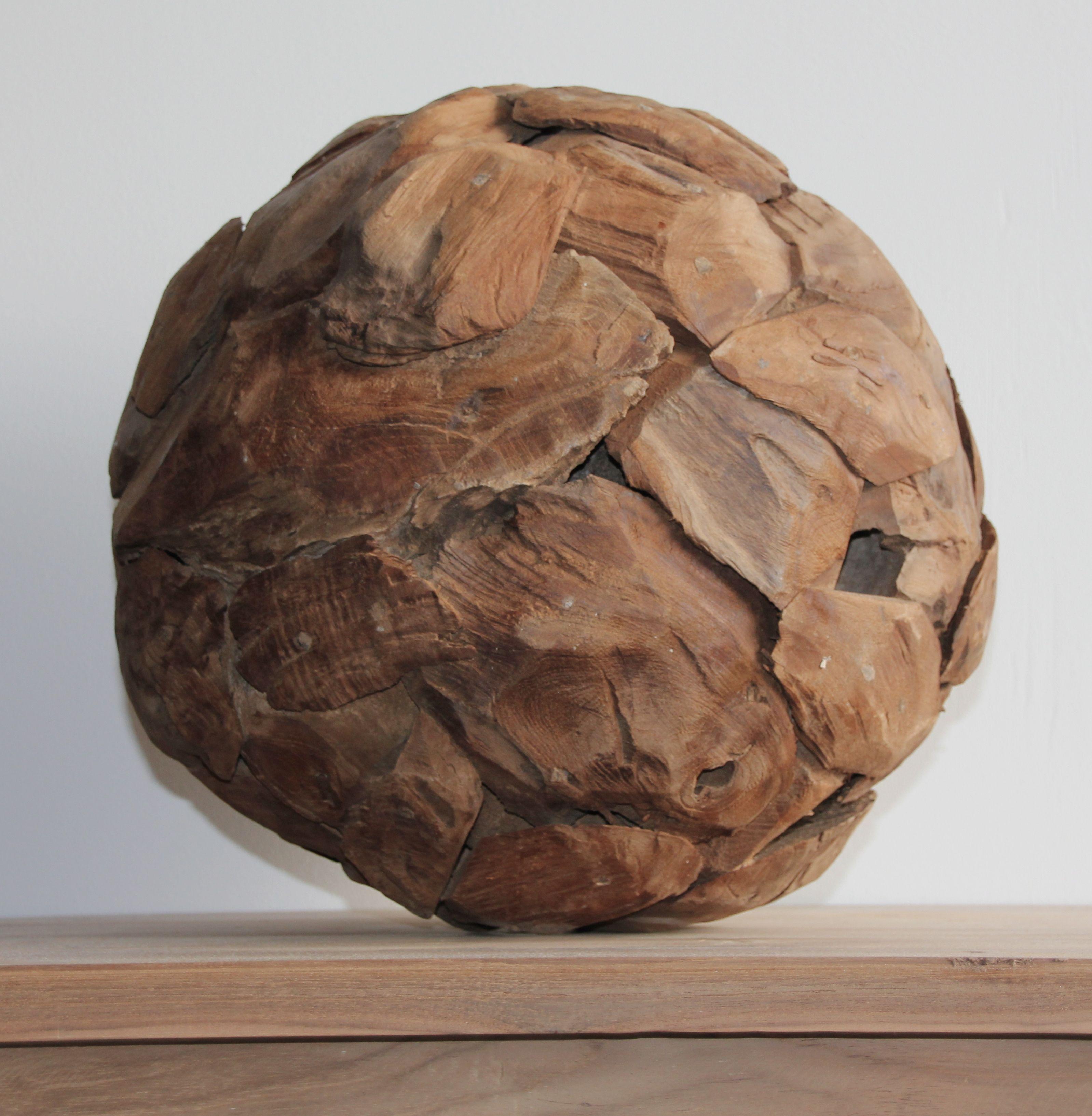 Decoratieve bol van drijfhout  Polder TEAK