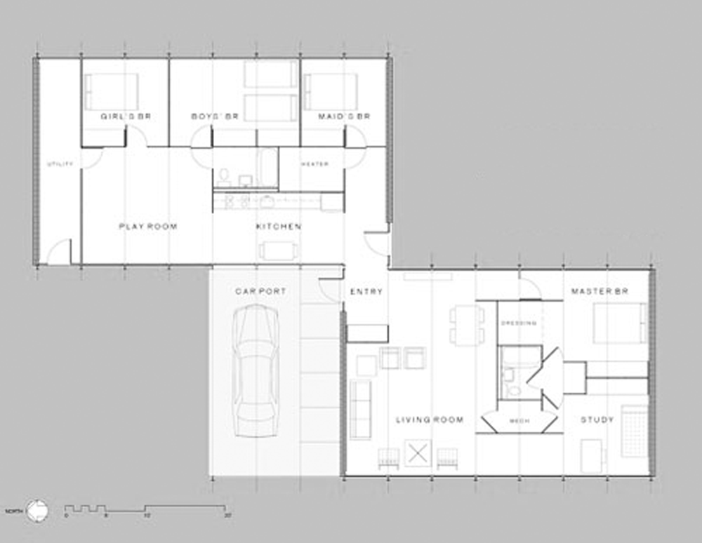 mccormick house plan 1952 mies van der rohe plan pinterest ludwig mies van der rohe and. Black Bedroom Furniture Sets. Home Design Ideas