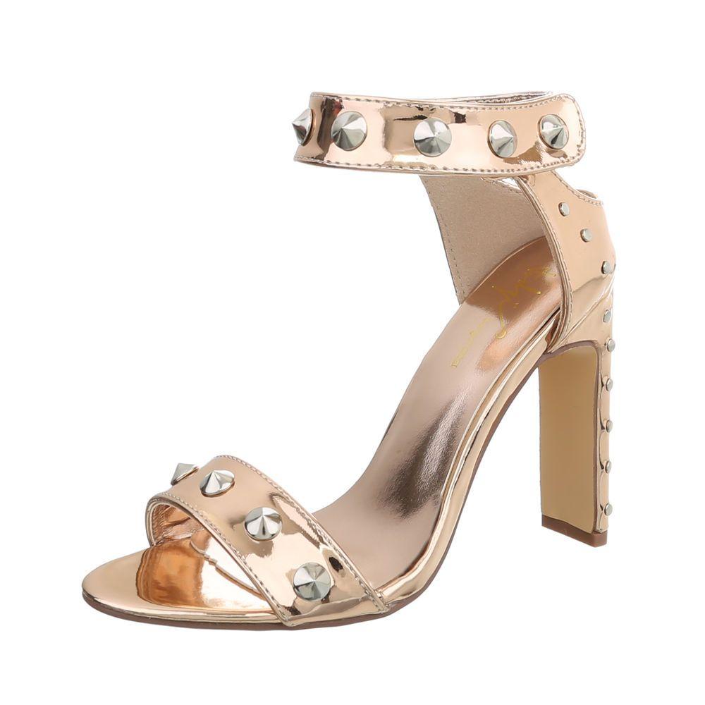 Damen Leather Collection Knöchelriemen Schnalle Verschluss Klassisch Sandalen