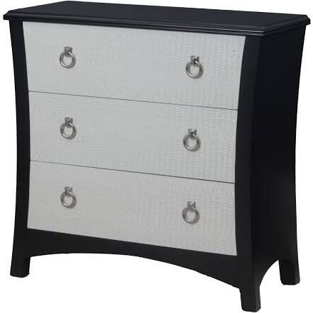 Oh! Home Clara White Croc Chest (Clara White Croc Chest), Black OS2415