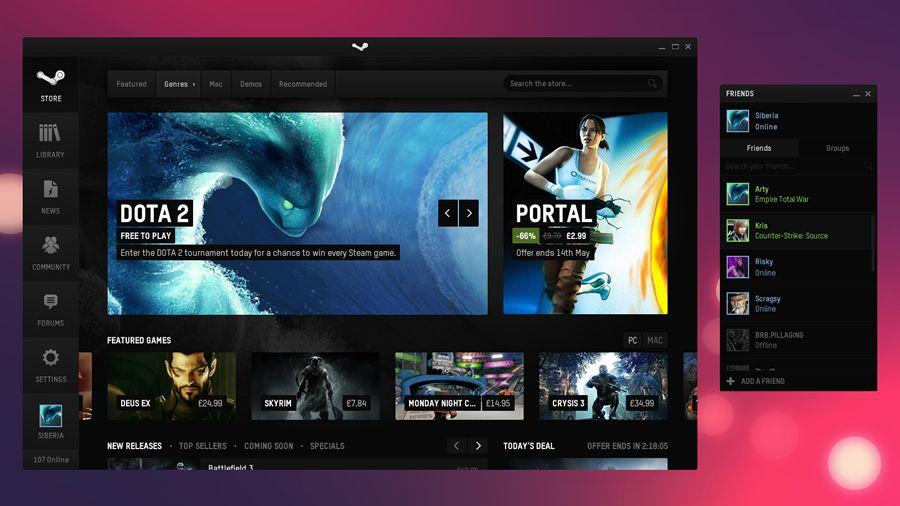 Steam desktop application | News web design, Web design ... |Steam User Interface