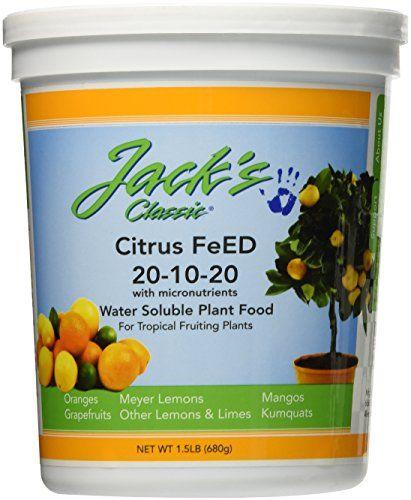 J R Peters 52524 Jacks Classic No15 201020 Citrus Food Fertilizer Check Out This Great Product Meyer Lemon Tree Lemon Tree Citrus Trees