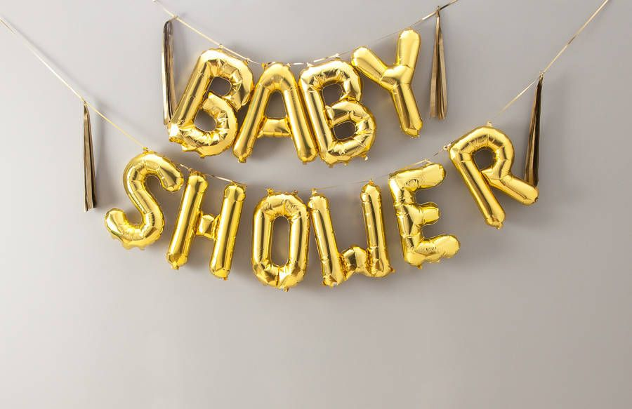Baby Shower 16 Inch Balloon Letters Babies Confetti Balloons And