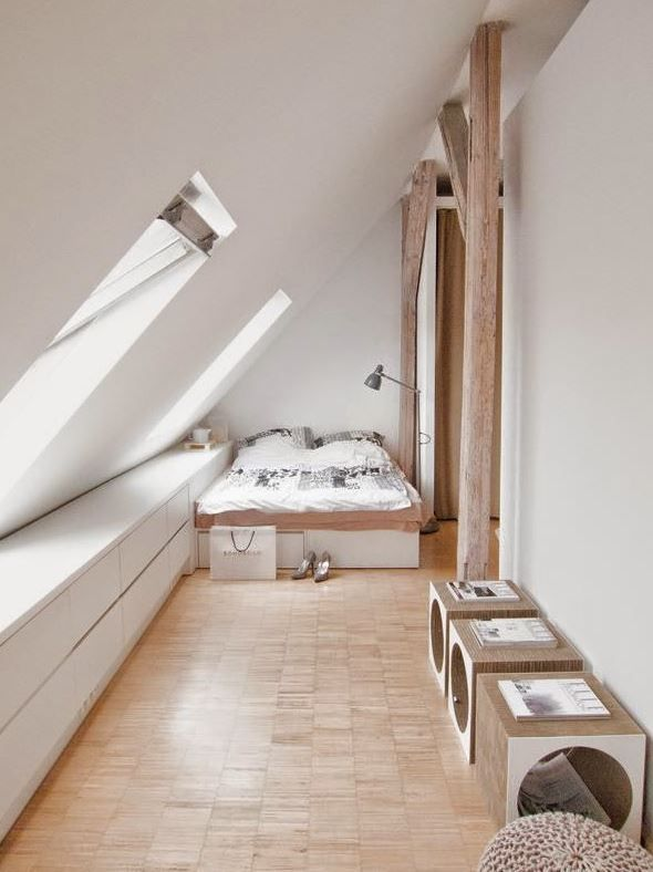 dachschrägen im schlafzimmer gestalten | haus innen | pinterest - Schlafzimmer Einrichten Mit Dachschrgen